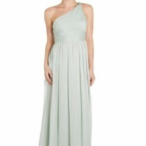 BNWT Adrianna Papell Chiffon One-Shoulder Gown